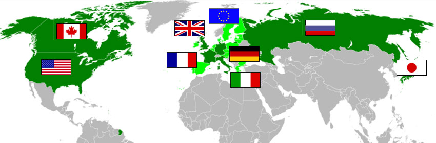 The G8 member countries
