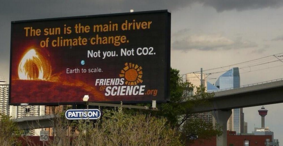 Friends of Science billboard in Calgary in 2014. Photo courtesy of Greenpeace
