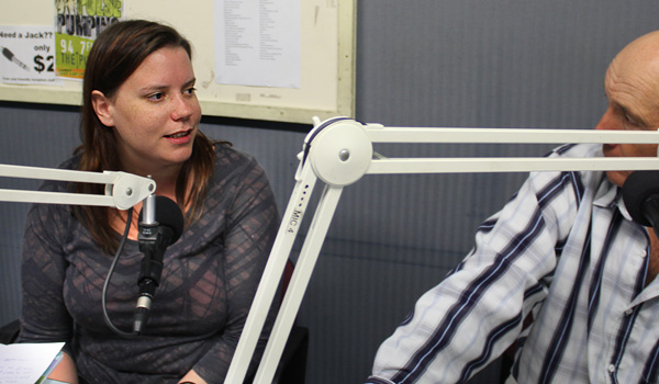 Stacey Koole and Mike Lawrence in The Pulse studio