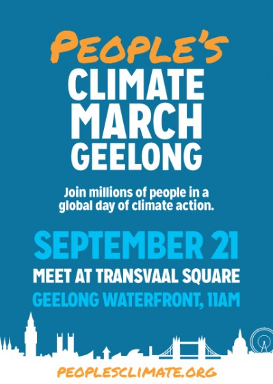 Climate March Geelong flyer