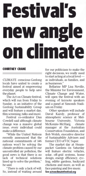 Geelong Advertiser 16 November 2015
