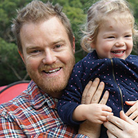 Aaron Lewtas and daugther, Ruby