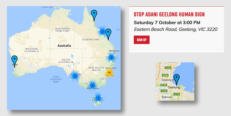 Geelong group joins campaign to stop Adani coal mining madness