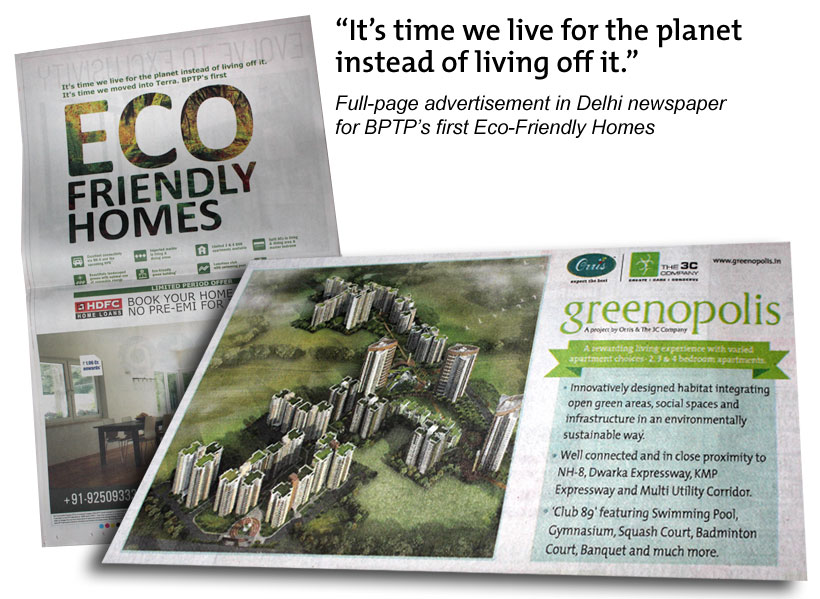 Eco Friendly Homes ad