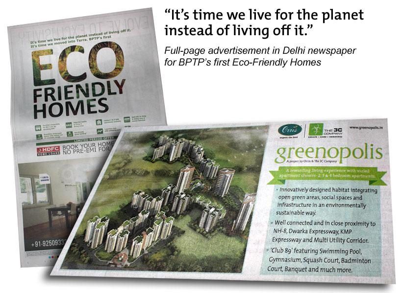 Eco Friendly Homes ad