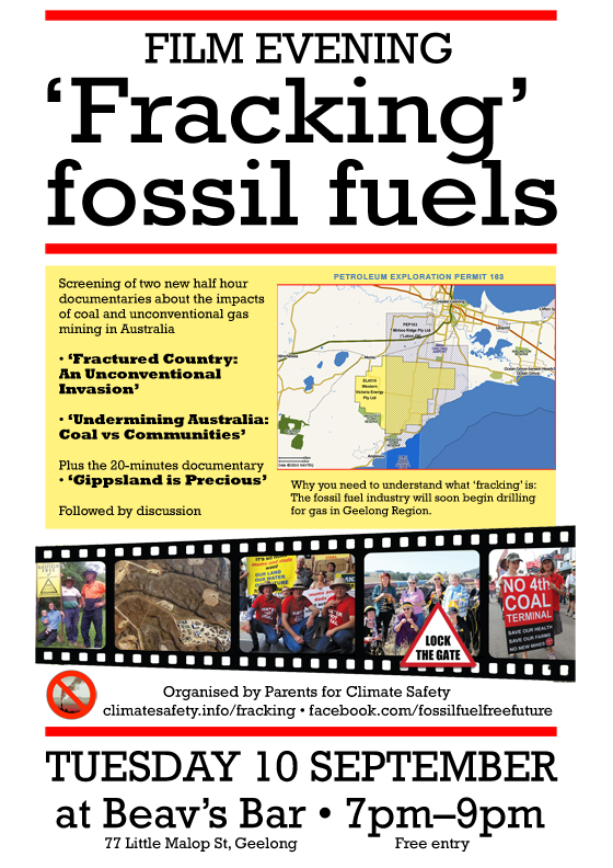 Fracking film flyer