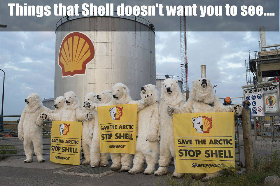 Shell arctic protest in Denmark