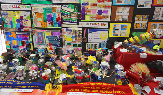 Eco Warriors exhibition from Highton Primary School at the 2014 Royal Geelong Show