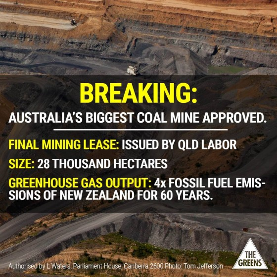 coal mine approved