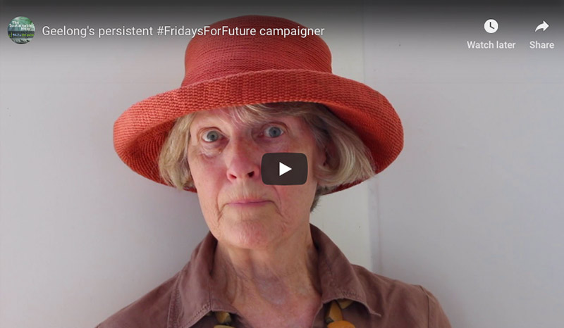 Caroline Danaher - the persistent climate action campaigner in Geelong